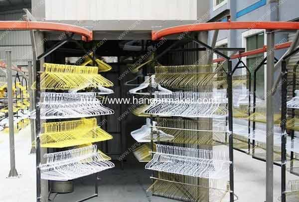 Laundry metal hanger powder coating machine