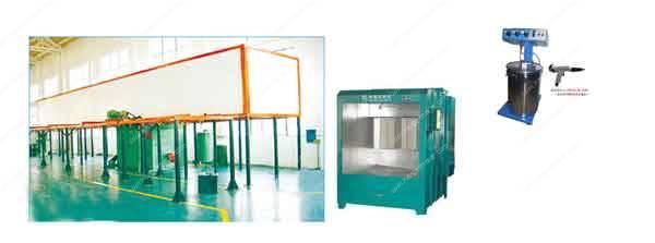Máquina de revestimento por pulverização eletrostática semi-automática automática