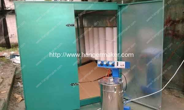 electrostatic-coating-powdering-booth-with-recycle-system