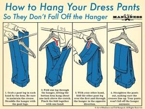 How to Hang Trousers and Shirts