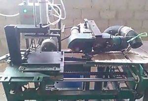 Wooden Hanger Pit Hole Making Machine