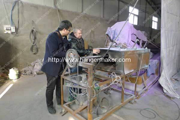 USA-Customer-Visit-Romiter-Wire-Hanger-PE-Coating-Plant