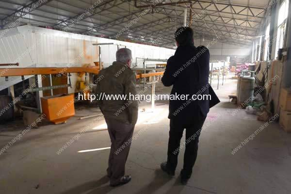 Jordan-Customer-Visit-Factory-in-Coated-Hanger-Curing-Oven-Machine