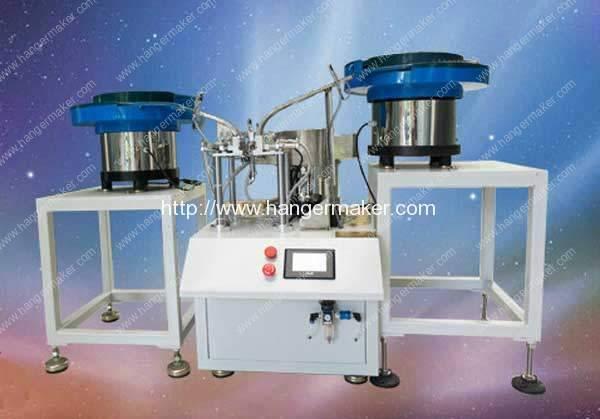 Máquina de montagem de clipes de metal semi-automática