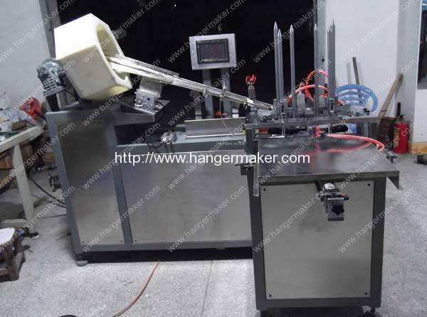 Full Automatic Plastic Hanger Metal Hook Inserting Machine