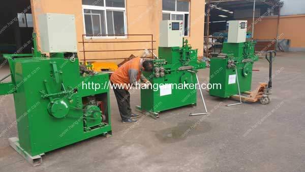 PLC Control Laundry Coating Wire Hanger Making Machine Delivery for America Customer