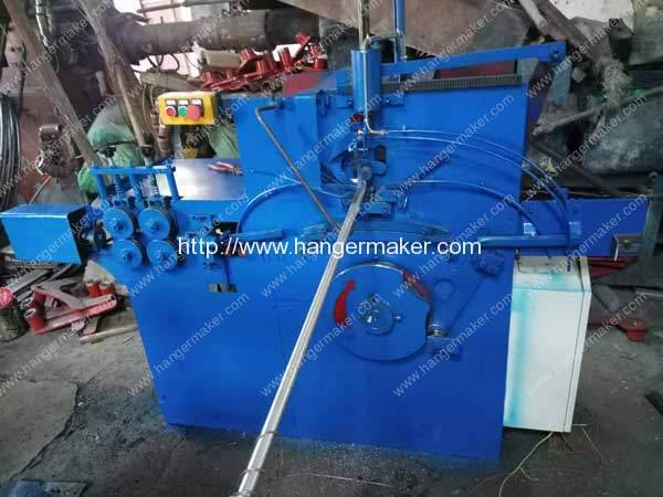 Carbon Black Wire Hanger Making Machine for Panama Customer