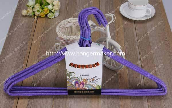 Domestic High Quality PE Coated Wire Hanger for Sale