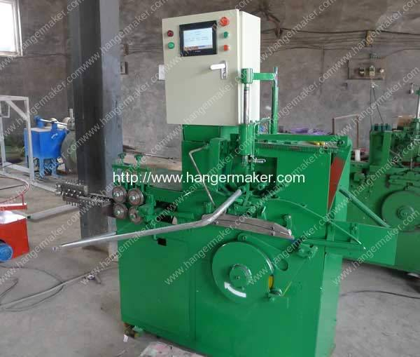 PLC Control Galvanized Wire Hanger Making Machine for Saudi Arabic Customer