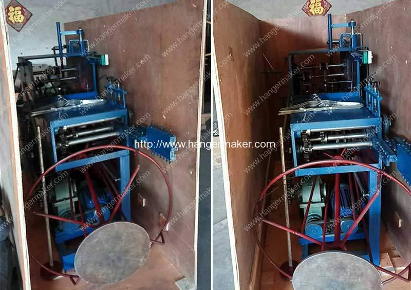 Galvanized-Wire-Hanger-Making-Machine-Delivery-for-Dominica-Customer