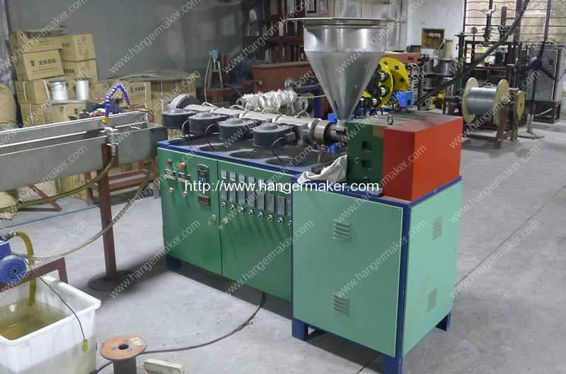 Carbon Black Steel Wire PET Coating Machine for PET Wire Hanger