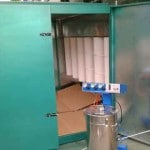 Wire Hanger Electrostatic Coating Powdering Booth with Recycle System