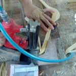 Wooden Hanger Round Bar Installing Machine