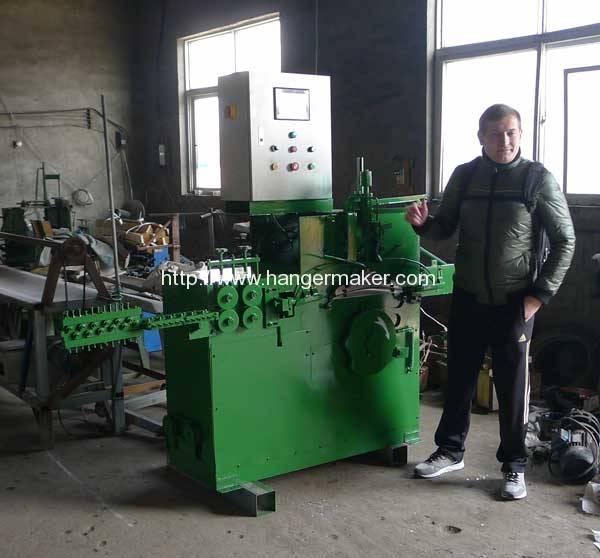 russia-customer-visit-romiter-wire-hanger-machine-factory